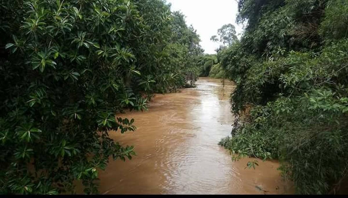 Aumento no nível do Rio Carangola deixa Defesa Civil de Porciúncula, RJ, em estado de atenção