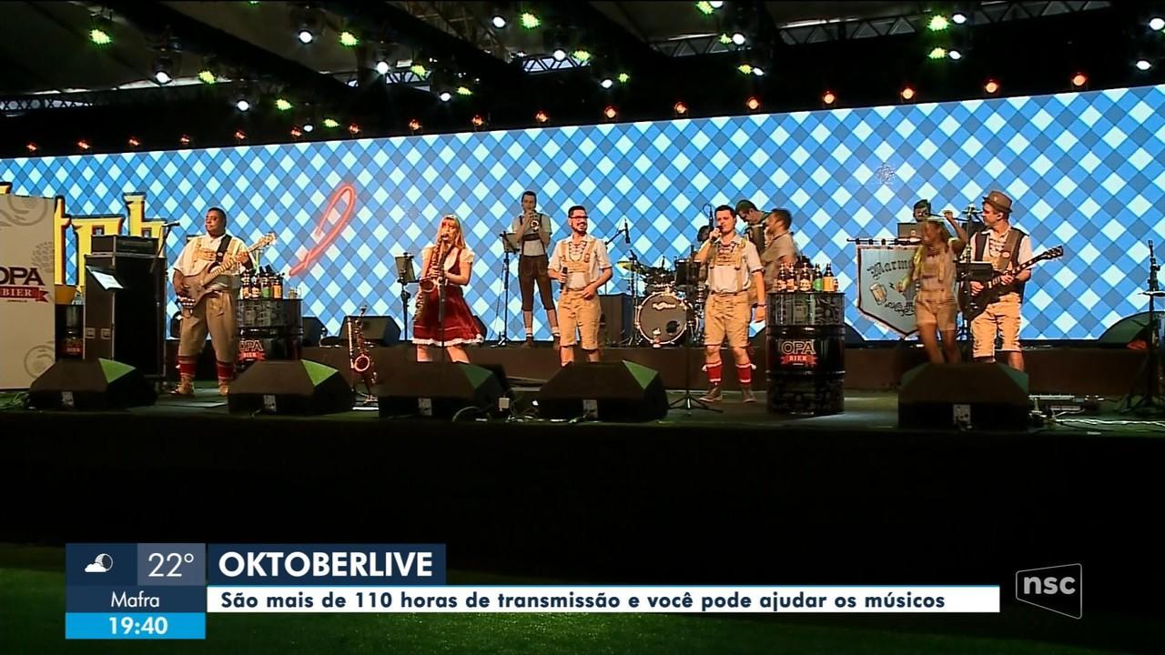 Bandas que participariam da Oktoberfest em Blumenau se apresentam online