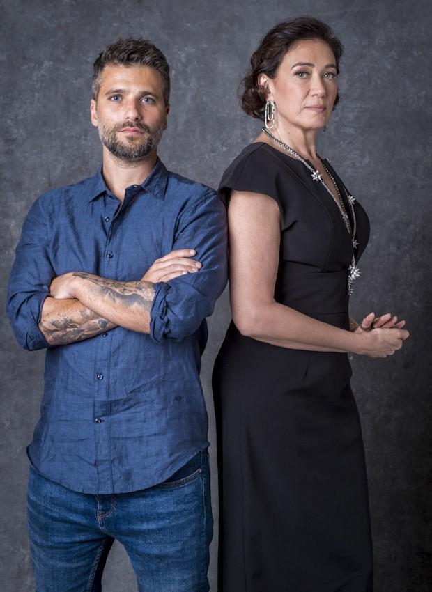 Bruno Gagliasso e Lília Cabral serão filho e mãe em O Sétimo Guardião (Foto: João Cotta/TV Globo)