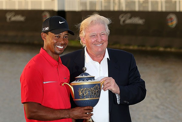 Tiger Woods e Donald Trump (Foto: Getty Images)