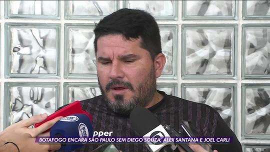 Com três desfalques importantes, Botafogo enfrenta São Paulo neste sábado pelo Brasileiro