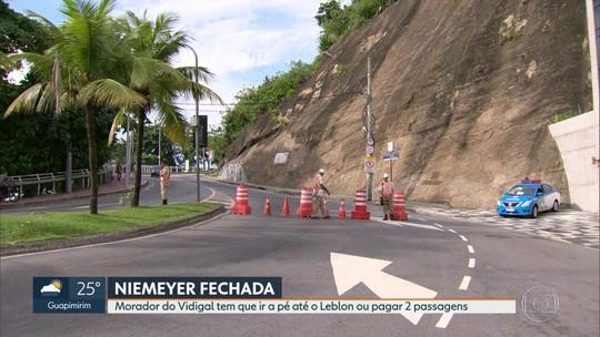 Avenida Niemeyer é fechada por decisão judicial
