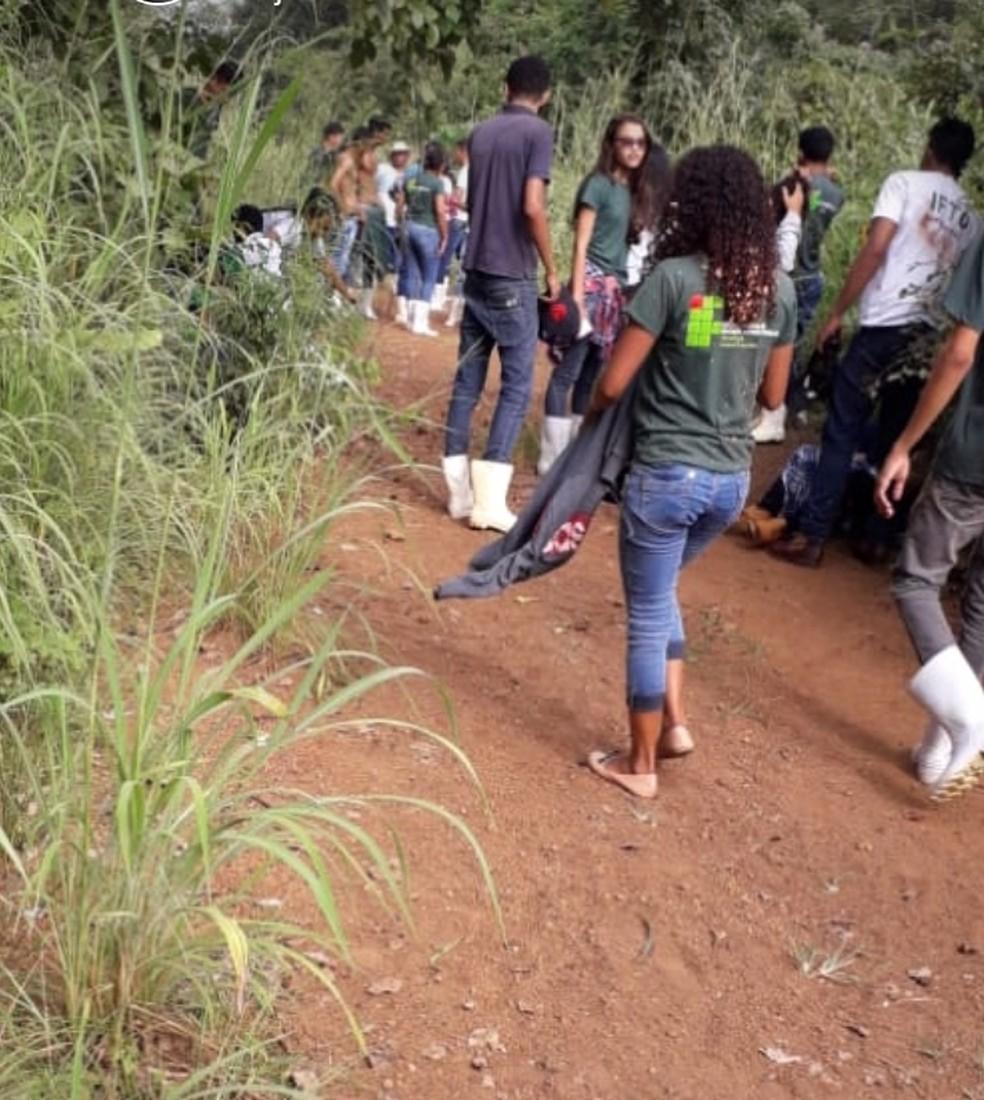 Estudantes do IFTO ficaram feridos durante aula prática — Foto: Divulgação