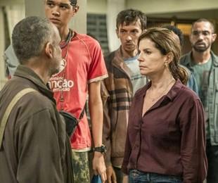 Cena da nova temporada de 'Segunda chamada'   Fábio Rocha/Globo