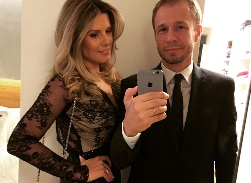 Daiana Garbin e Tiago Leifert em foto no Instagram — Foto: Reprodução/Instagram/tiagoleifert