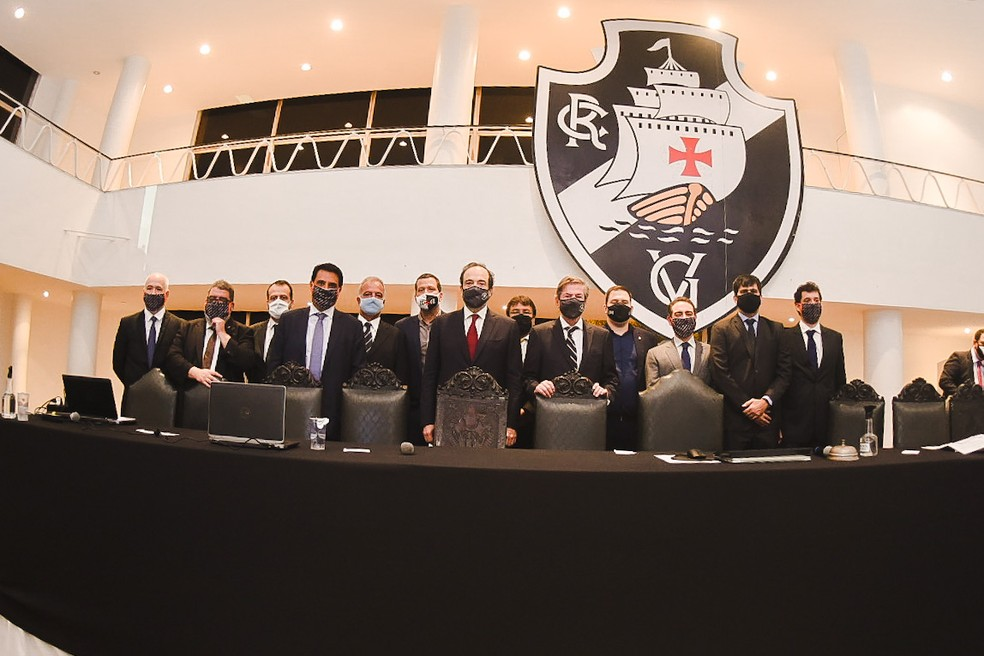 Direção comandada por Salgado tomou posse na segunda no Vasco — Foto: Divulgação/Vasco