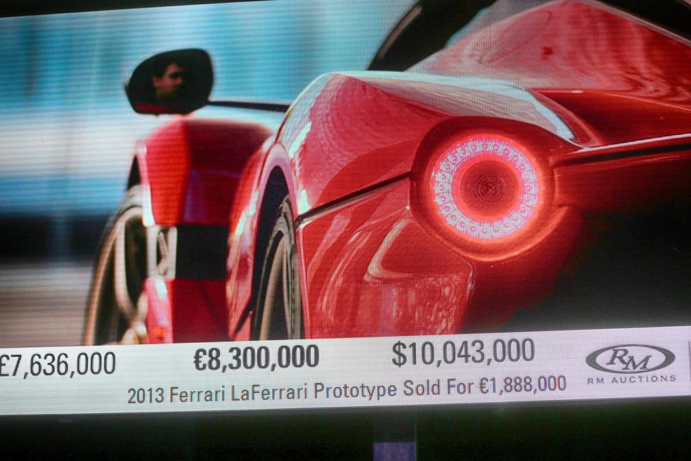 Ferrari LaFerrari Aperta é vendida por 8,3 milhões de euros (Foto: Divulgação)
