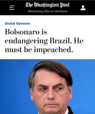 O artigo de uma antropóloga brasileira, Rosana Pinheiro Machado, foi publicado com destaque pelo Washington Post