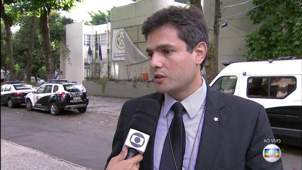 Delegado Daniel Rosa, que já foi assistente da DH capital, será o responsável pela investigação do caso Marielle na delegacia — Foto: Reprodução / TV Globo