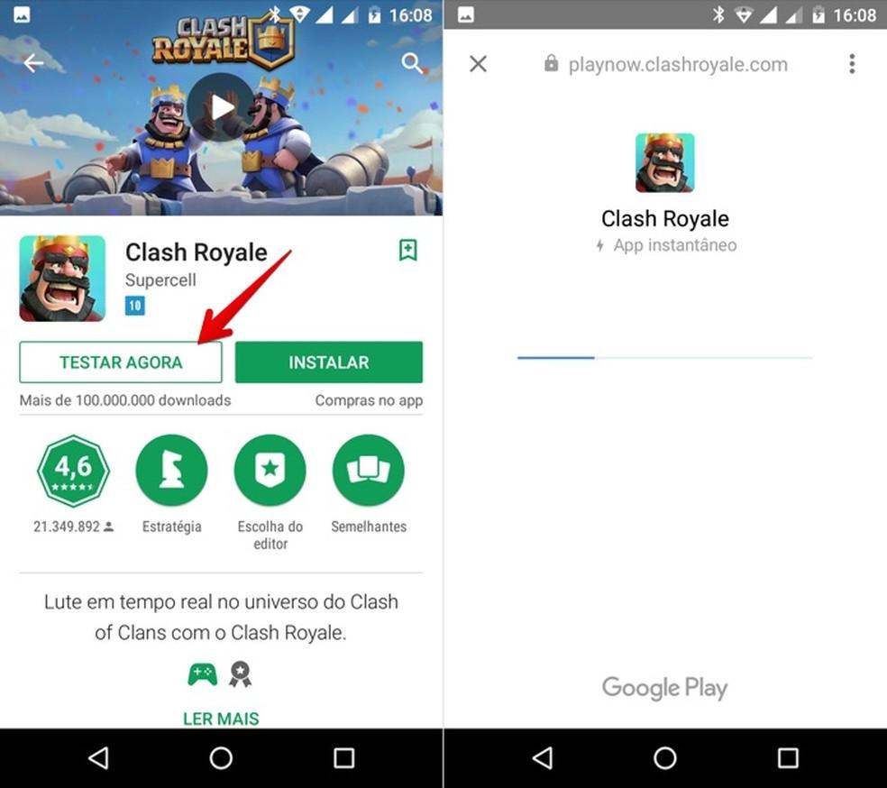 Testando aplicativo direto da Play Store (Foto: Reprodução/Helito Bijora)