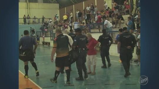 Justiça condena goleiro que agrediu árbitro durante jogo de futsal em Limeira