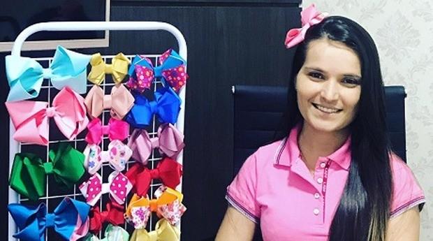 Dimara Anjos, fundadora da marca de laços Di Anjos (Foto: Divulgação)