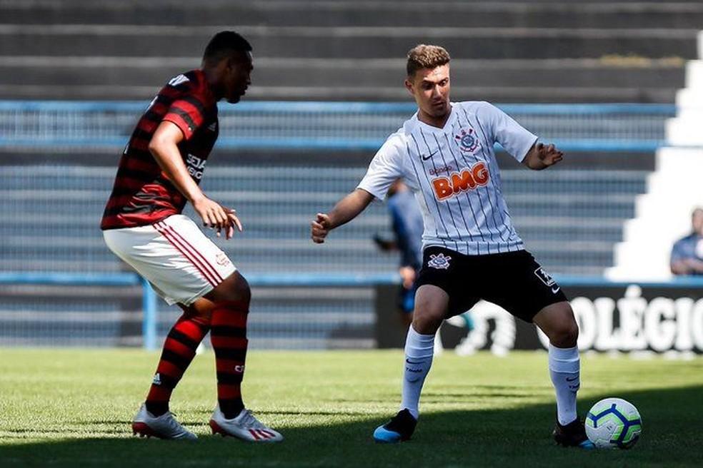 Flamengo empatou com o Corinthians no único duelo entre eles no Brasileiro — Foto: Rodrigo Gazzanel/Ag.Corinthians