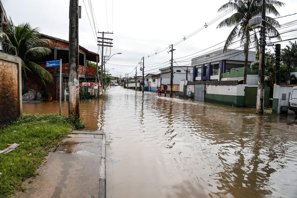 prefeitura decretou estado de emergência na cidade — Foto: Edgard Copque/Prefeitura de Lauro de Freitas