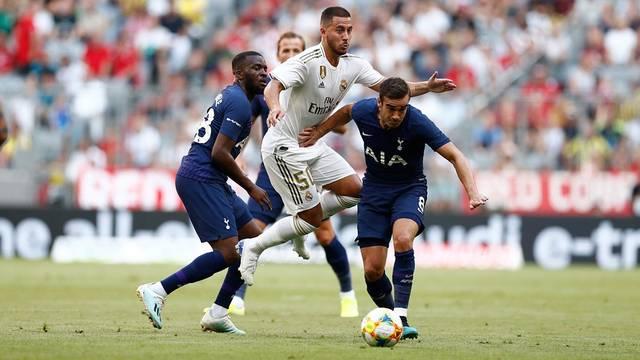 Hazard em ação durante Tottenham x Real Madrid