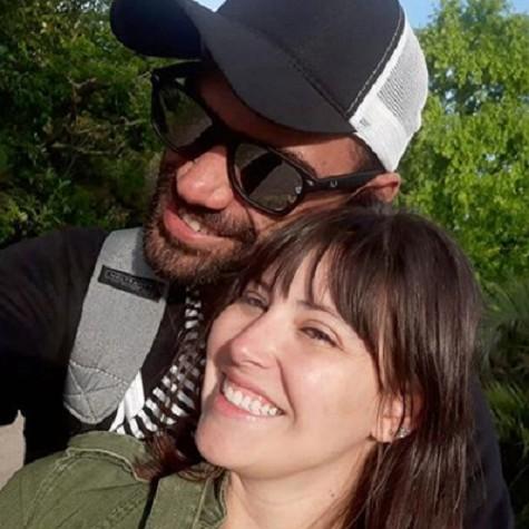 Lara Rodrigues com o noivo, Lui Azevedo (Foto: Reprodução)