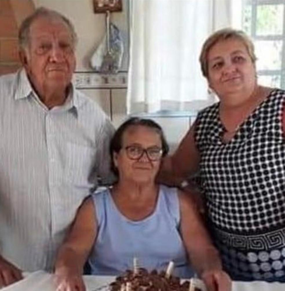 Antônio, Ana Angélica e Antonia morreram por causa da Covid-19 — Foto: Arquivo Pessoal