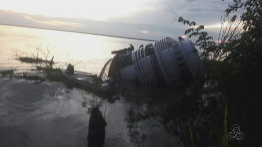 Embarcação vira no Rio Amazonas durante trajeto de Parintins a Manaus