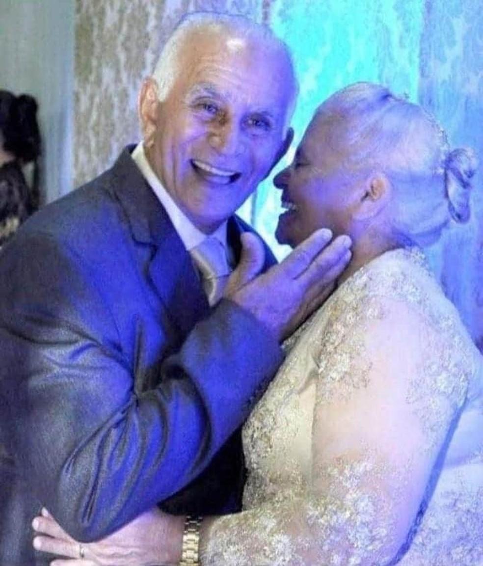 José Geraldo e Raimunda Nonato foram diagnosticados com Covid-19 — Foto: Facebook/Reprodução