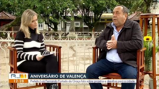 RJ1 entrevista prefeito de Valença - parte 1