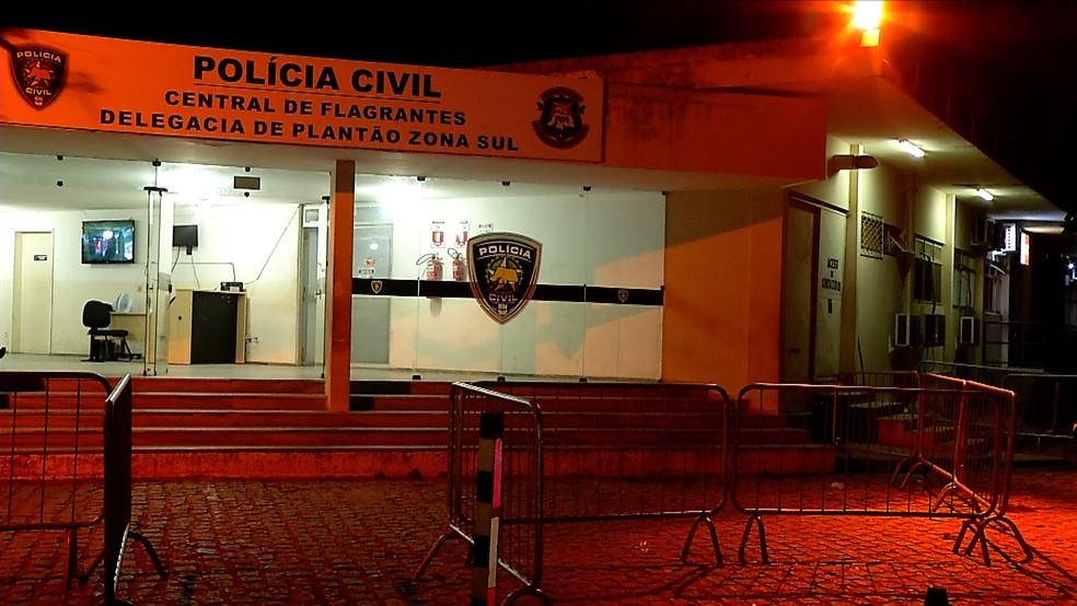 Central de Flagrantes da Polícia Civil, em Natal — Foto: Reprodução/Inter TV Cabugi