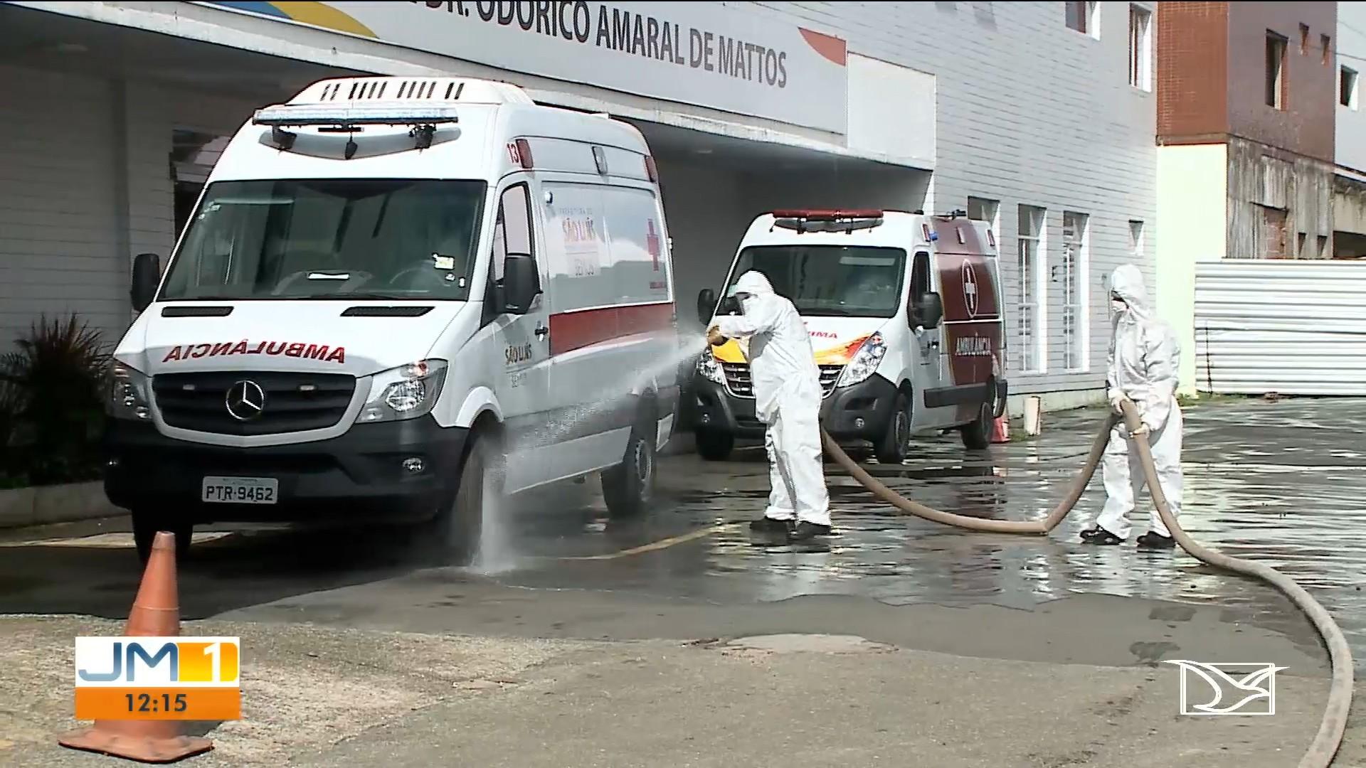 Exército realiza força-tarefa para higienizar hospitais de São Luís