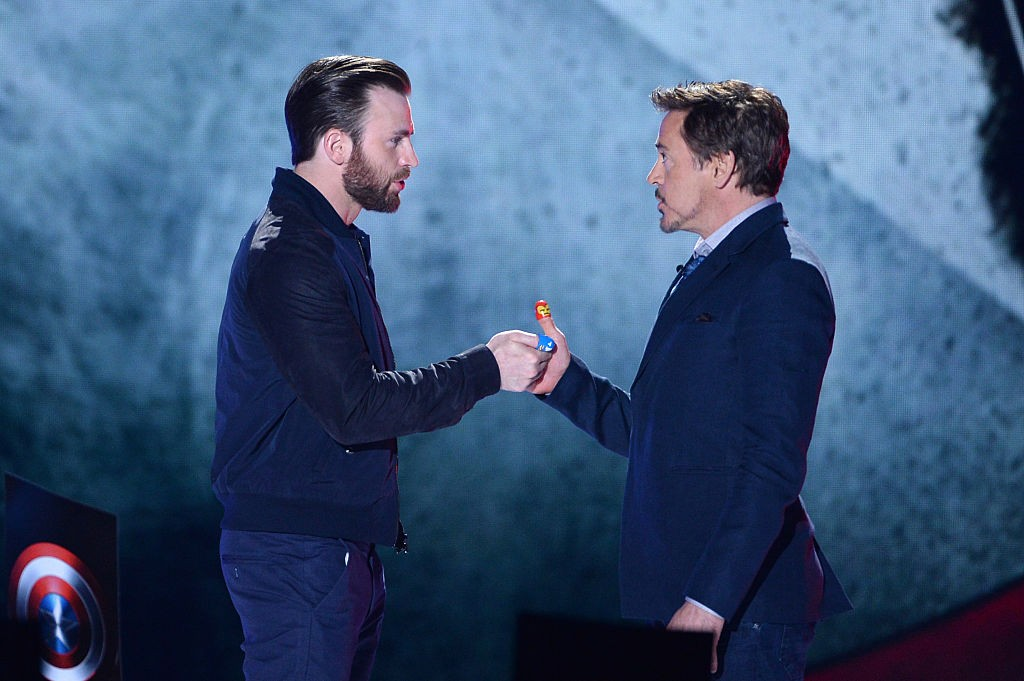Robert Downey Jr. e Chris Evans (Foto: Getty Images)