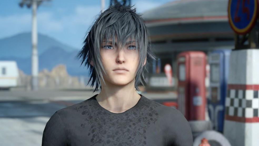 -  Noctis, personagem principal de  Final Fantasy XV   Foto: Divulgação