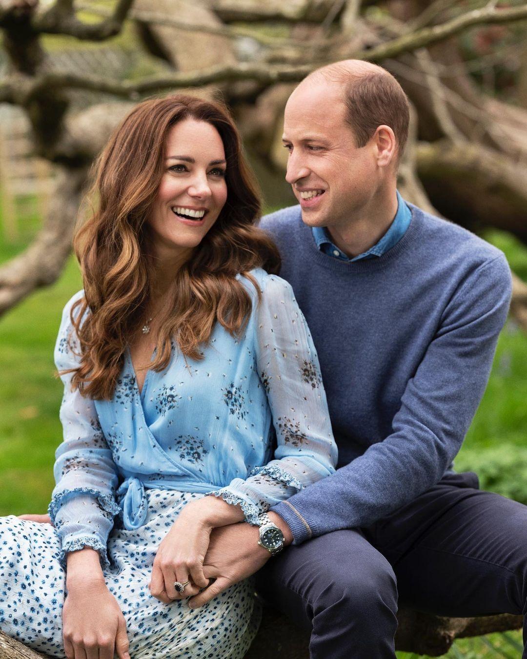 Kate Middleton e Príncipe William comemoram 10 anos de casamento com ensaio especial  (Foto: Divulgação/ @chrisfloyd)