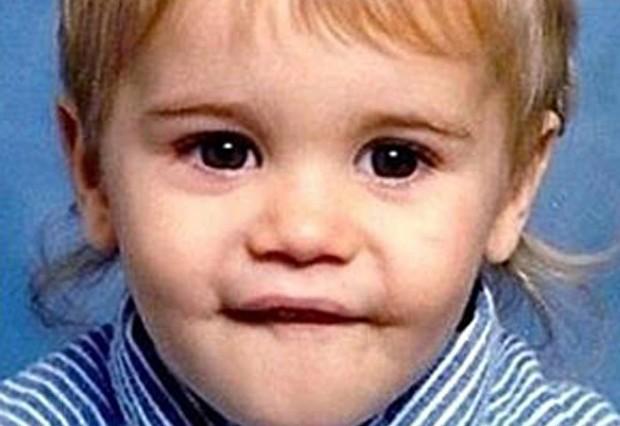 Justin Bieber já era um fofo desde pequeno (Foto: Reprodução)