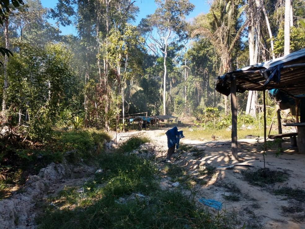 Acampamentos também foram achados em reserva (Foto: DPF/Divulgação)