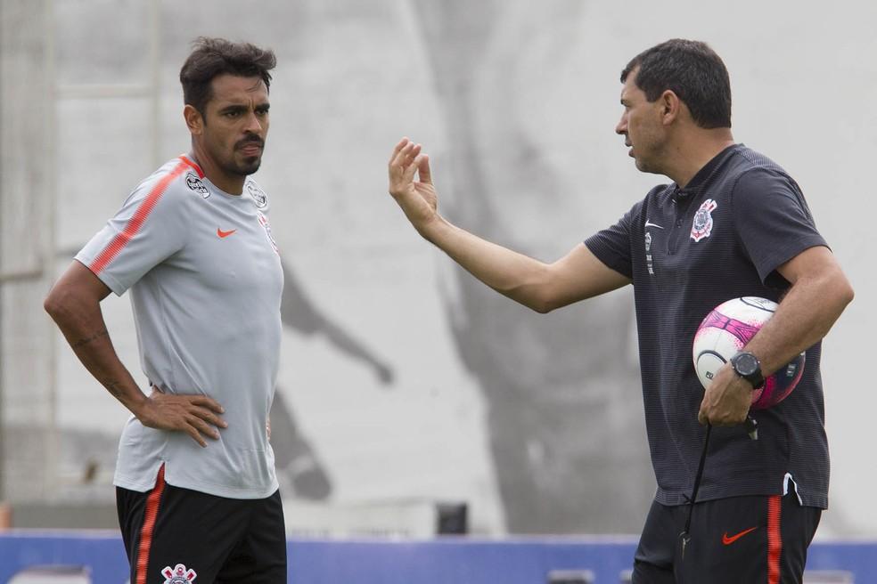 Junior Dutra assumiu a vaga de titular do ataque (Foto: Daniel Augusto Jr/Agência Corinthians)