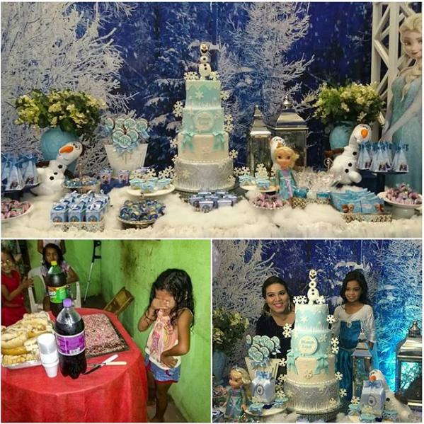 Abaixo à esquerda, a festa feita pela família. (Foto: Reprodução Instagram / @festejandoemcasaoficial)
