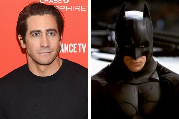 O ator Jake Gyllenhaal, e Christian Bale como Batman (Foto: Getty Images/Reprodução)