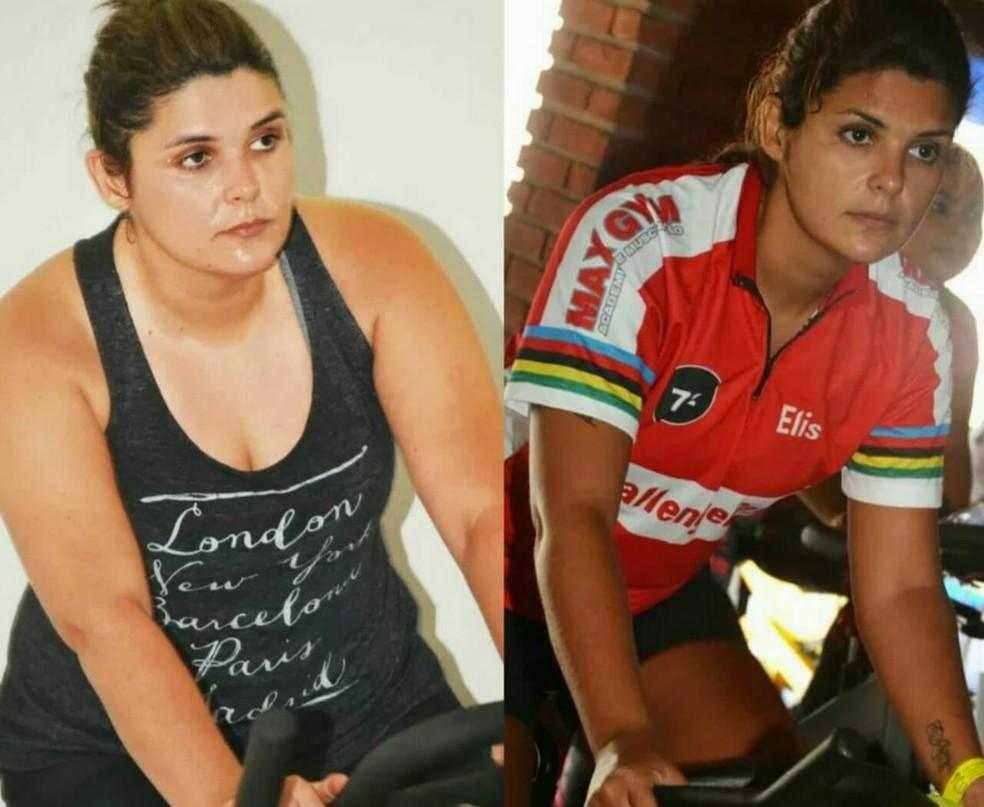 Após colocar prótese na coluna, Elisângela engordou 21 quilos e usou a atividade física para recuperar a sua vida de volta (Foto: Arquivo pessoal)