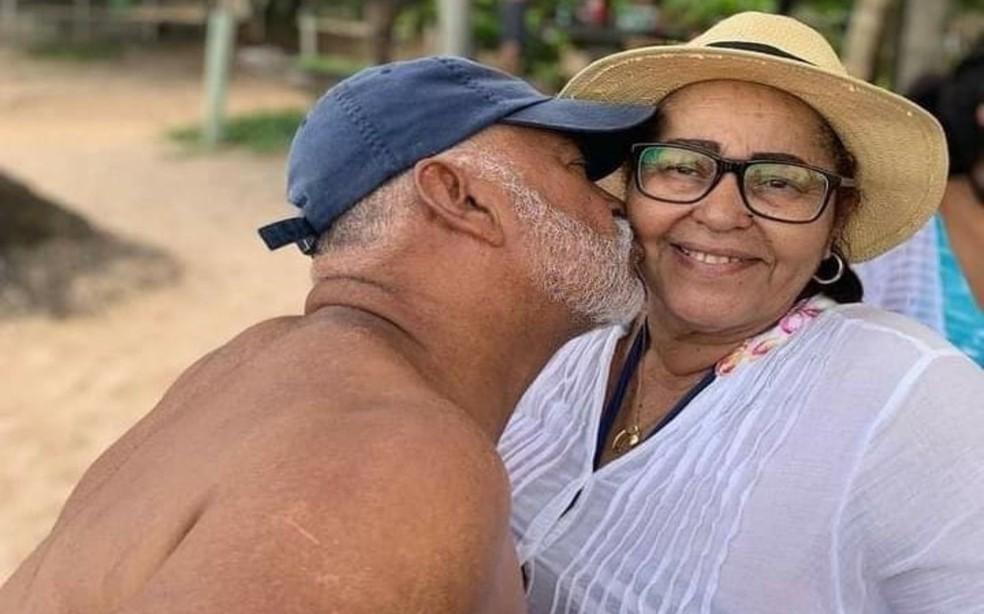 Higino e Nair Barros morreram vítimas de Covid-19 em um intervalo de seis dias em Ubatã — Foto: Reprodução/Redes Sociais