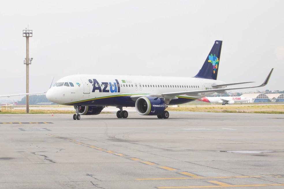 Azul Linhas Aéreas anunciou três novos voos até o início de 2020 no RN.  — Foto: Celso Tavares/G1