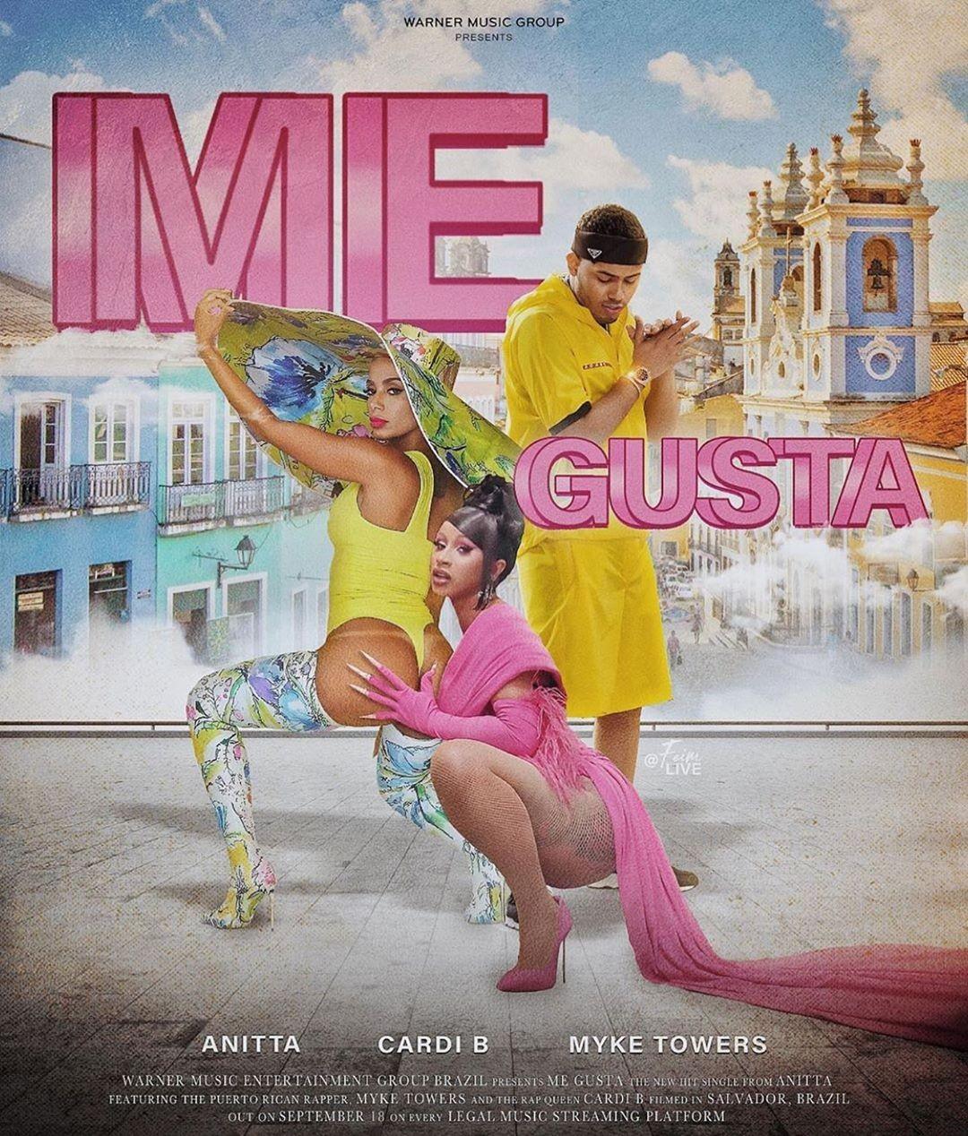 Anitta lança 'Me Gusta', música com participação de Cardi B e Myke Towers