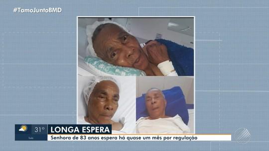 Idosa de 83 anos espera há quase um mês por vaga em hospital de Salvador e família faz apelo: 'Socorro'
