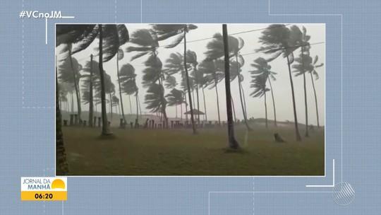 Ventania causa destruição na Vila de Santo André, em Santa Cruz Cabrália