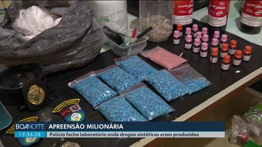 Quatro pessoas são presas suspeitas de manter laboratório para fabricar drogas sintéticas, em Curitiba