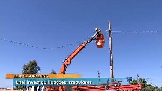 Enel desliga mil instalações em rede clandestina de energia elétrica de Aparecida de Goiânia