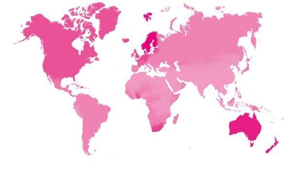 Mapa mostra a capacidade de navegação nos países - quanto mais escura a cor, maior é essa habilidade (Foto: UCL via BBC)