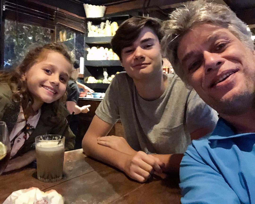 Ella Assunção, João Assunção e Fábio Assunção (Foto: Reprodução Instagram)