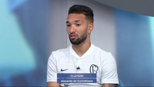 """Clayson vê Corinthians com elenco qualificado e projeta semestre: """"Vamos brigar lá em cima"""""""