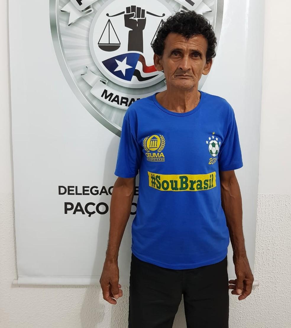José Ribamar Veras de Sousa foi indiciado pelos crimes de estupro, estupro de vulnerável, cárcere privado e posse de munição — Foto: Divulgação/Polícia
