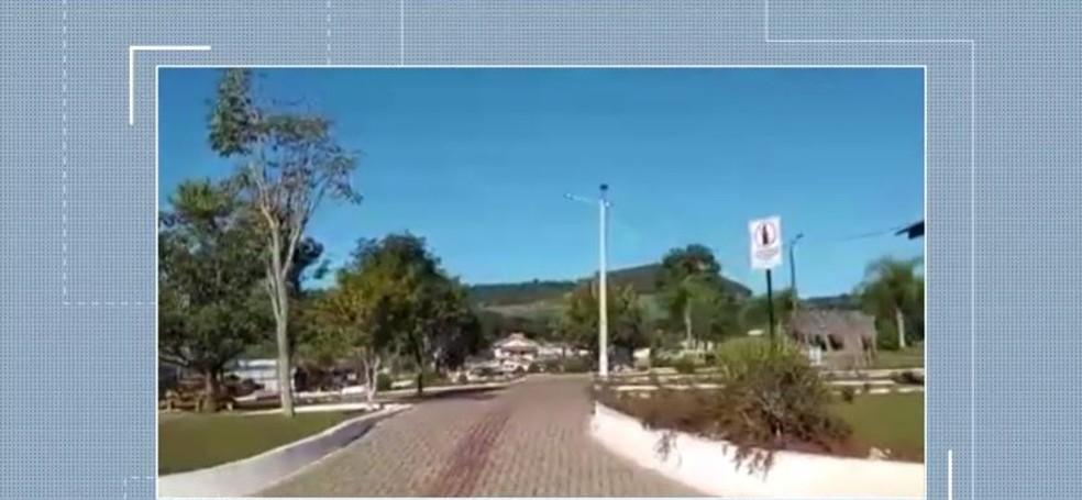 Cidade de Entre Rios, SC — Foto: Reprodução/NSC TV