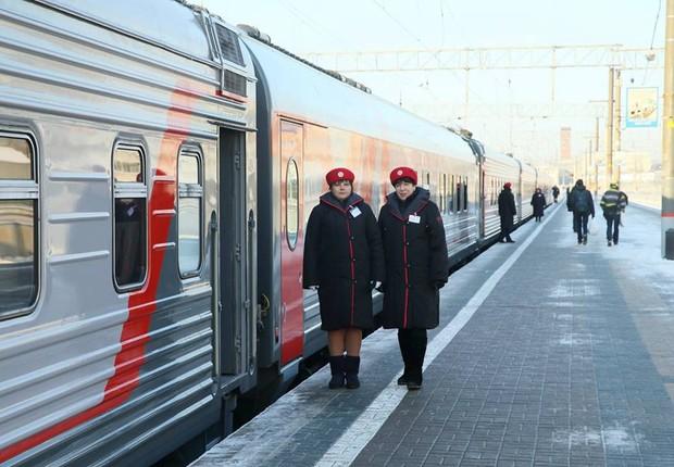 Trem da  Russian Railways (Foto: Reprodução Facebook)