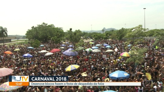 O Carnaval terminou nesse domingo