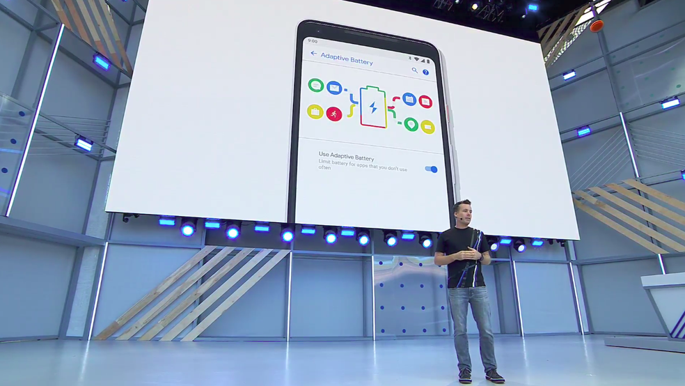 Android P usará inteligência artificial para economizar até 30% mais bateria (Foto: Reprodução/YouTube)